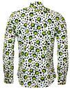 Dot CHENASKI Retro Seventies Op Art Mod Shirt G