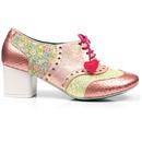 Clara Bow POETIC LICENCE Mod Brogue Heels in Pink