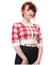 Collectif Retro Vintage 50s Womens Cropped Cardi