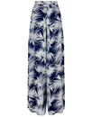 Akiko COLLECTIF Retro Palm Print Palazzo Trousers