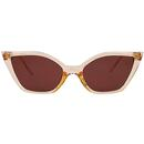 Collectif Vintage Audrey Retro 1950s Cats Eye Sunglasses in Amber
