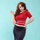 Bettina COLLECTIF Retro Vintage Navy Pencil Skirt