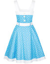 Caitlin COLLECTIF Retro 1950s Nautical Swing Dress