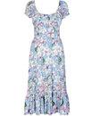 Carmen COLLECTIF Watercolour Floral Gypsy Dress