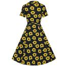 Caterina COLLECTIF Sunflower 40s Swing Dress