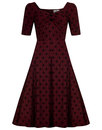 Collectif retro vintage dolores doll dress wine