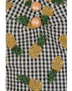 Dolores COLLECTIF Retro Pineapple Gingham Dress