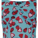 Dolores COLLECTIF Strawberry Print Vintage Top