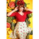 Evie COLLECTIF Retro 50s Heart Knit Cardigan - Red