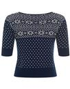 Chrissie COLLECTIF Fair Isle Knit Christmas Jumper