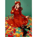 Heather COLLECTIF Hooded Autumnal Swing Coat