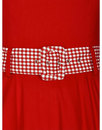 Kitty COLLECTIF Retro 50s Gingham Trim Swing Dress