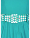 Kitty COLLECTIF Retro Mod Gingham Trim Swing Dress