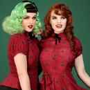 Mary Grace Polka Meow COLLECTIF Vintage Blouse
