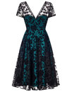 Nina COLLECTIF 1950s Velvet Brocade Swing Dress