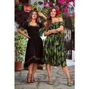 Tilda COLLECTIF Retro 50s Flared Dress in Black