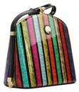 Multi Stripe Handbag PEACH Mod Retro 60's Box Bag