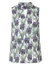 Amethyst DARLING Retro 60s Floral Summer Top