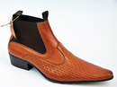 DELICIOUS JUNCTION MOD BASKET WEAVE CHELSEA BOOTS