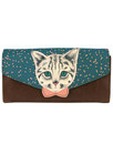 Disaster Meow Cat Wallet Clutch Purse