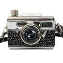 DISASTER DESIGNS Retro Pix Camera Steel Hip Flask