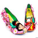 Irregular Choice x Disney Princess Mulan Let Dreams Blossom Floral Heels
