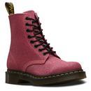 dr martens womens 1460 pascal glitter boots pink