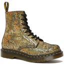 Dr martens womens iridescent gold 1460 pascal boots
