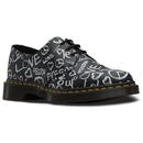 dr martens 1461 retro 60s protest shoes black