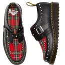 Ramsey DR MARTENS Punk Tartan Creeper Monk Shoes