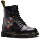 dr martens 1460 rick griffin eye boots black