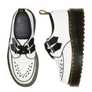 Sidney DR MARTENS Smooth Platform Creepers White