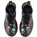 DR MARTENS Womens Retro 1460 Rose Fantasy Boots
