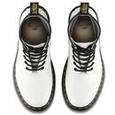 1460 DR MARTENS Men's Retro White Leather Boots