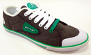 DUNLOP GREEN FLASH LO RETRO TRAINERS 70s GREYGREEN