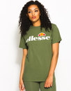 ellesse albany retro boyfriend fit t-shirt green