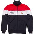 Caprini ELLESSE Retro 80s Panel Track Jacket Red white navy