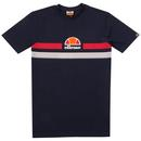 Fornaci ELLESSE Retro Chest Stripes Logo Tee Navy