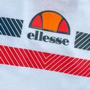 Glisenta ELLESSE Retro 80s Chest Stripe Tee W/R/N