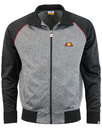 ellesse jetter funnel neck track top charcoal