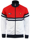 ellesse rimini 3 track top optic white true red