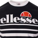 Vierra ELLESSE Retro 70s Stripe Panel Tee (White)
