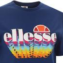Zingha ELLESSE Women's Retro 80s 3D Logo Tee BLUE