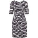 Hattie EMILY & FIN Swans Printed Dress In Navy
