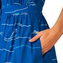 Liana EMILY & FIN Retro 1950s Blue Divers Dress