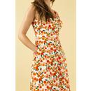 Margot EMILY & FIN Retro Summer Oranges Midi Dress