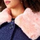 Vivian EMILY & FIN Vintage Faux Fur Collar Coat