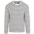 Bain FARAH Retro Mod Breton Stripe T-shirt (Ecru)