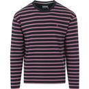 farah vintage mens barrio stripe long sleeve crew neck top yale