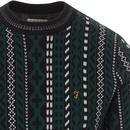Bissel FARAH Retro 70s Intarsia Knit Jumper